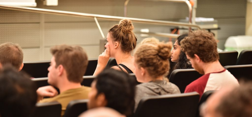 students studying in a lecture